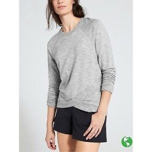 Athleta Criss Cross Crewneck Marled Sweatshirt Sm